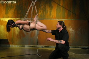 Hot ass tattooed brunette roped, hung, w - XXX Dessert - Picture 15