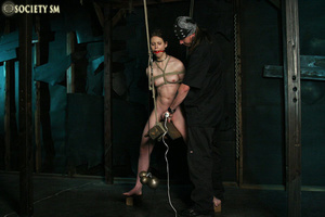 Brunette roped, suspended, racked and to - XXX Dessert - Picture 11