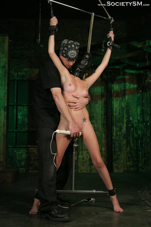 Sweet brunette tied, gagged, roped and s - XXX Dessert - Picture 3