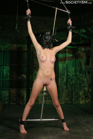 Sweet brunette tied, gagged, roped and s - XXX Dessert - Picture 5