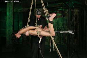 Sweet brunette tied, gagged, roped and s - XXX Dessert - Picture 13