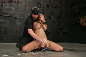Sexy brunette roped, suspended, folded a - XXX Dessert - Picture 11