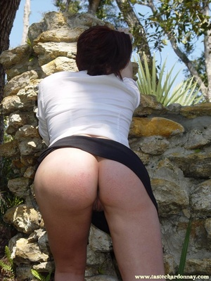Hot ass redhead in white shirt and blue  - XXX Dessert - Picture 4