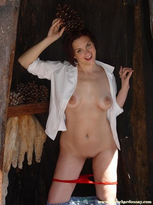Hot ass redhead in white shirt and blue  - XXX Dessert - Picture 9