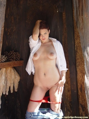 Hot ass redhead in white shirt and blue  - XXX Dessert - Picture 10