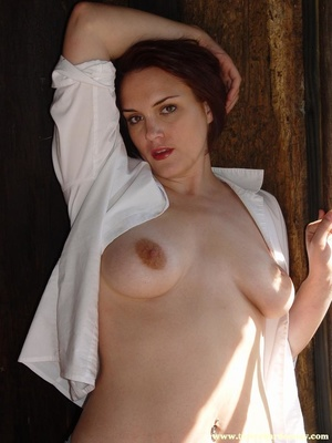 Hot ass redhead in white shirt and blue  - XXX Dessert - Picture 11