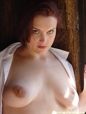 Hot ass redhead in white shirt and blue  - XXX Dessert - Picture 15