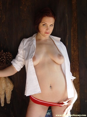 Hot ass redhead in white shirt and blue  - XXX Dessert - Picture 16