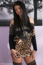 dark hair milf with