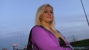 Spicy tattooed blonde in purple jacket a - XXX Dessert - Picture 1