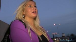 Spicy tattooed blonde in purple jacket a - XXX Dessert - Picture 2