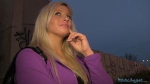 Spicy tattooed blonde in purple jacket a - XXX Dessert - Picture 3