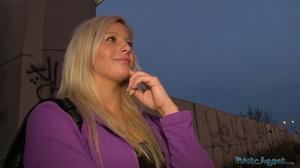 Spicy tattooed blonde in purple jacket a - XXX Dessert - Picture 4