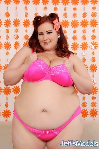 plump sexy redhead pink