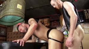 Two tattooed horny men in black jackets  - XXX Dessert - Picture 20