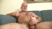 white hair hairy man