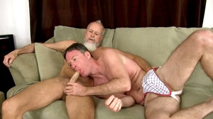 White beard man gets his cock sucked the - XXX Dessert - Picture 1