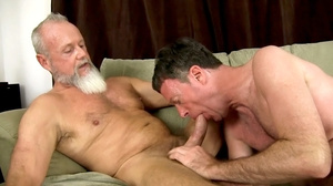White beard man gets his cock sucked the - XXX Dessert - Picture 9