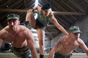hot blonde army officer