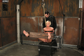 blonde, bondage, pussy, skinny