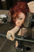 alluring redhead gets her