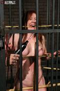 bondage, cage, redhead, vibrator