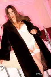 playful babe white lingerie