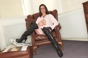 kinky lady wearing leather