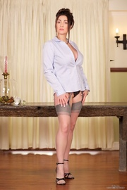 horny office babe with