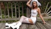 alluring bride pose her