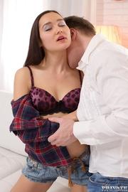 skinny slut got her