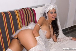 stunning bride ass drilled