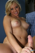 blonde, dick, fat, handjob