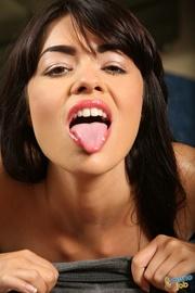 horny milf ejaculates stranger's