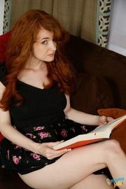 attractive redhead sucks cock