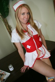 naughty nurse gets thick
