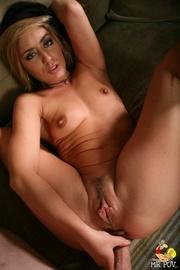 slut plays with dildo