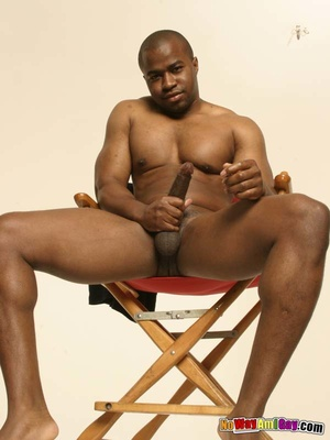 Black guy with muscular build shows of h - XXX Dessert - Picture 13
