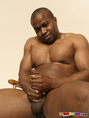 Black guy with muscular build shows of h - XXX Dessert - Picture 14