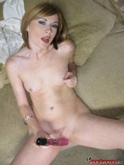 short redhead with perky
