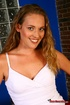 Blue eyed blonde bares all and enjoys getting a facial after giving a