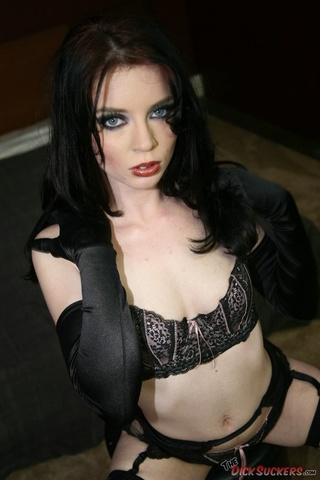 slut black lingerie stockings