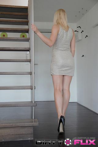 petite blondie lingerie sucks