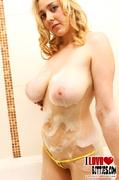 big tits, tits, window