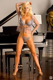 slim busty blonde beauty