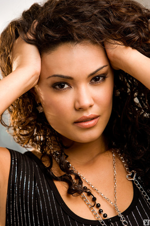 Curly hair brunette is hot black dress a - XXX Dessert - Picture 2