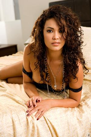 Curly hair brunette is hot black dress a - XXX Dessert - Picture 6