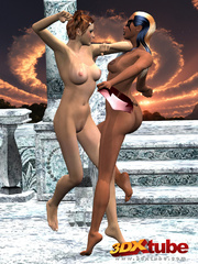 Two horny fighters get intimate and pleasure each - Picture 4