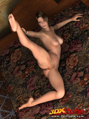 Flexible brunette with perfect body shows off her wet - Picture 5