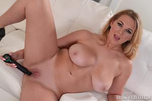Slut with huge tits is using a black sex - XXX Dessert - Picture 8